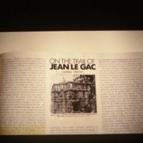 'Sandra Bridie, On the trail of jean Le Gac' detail. Photograph