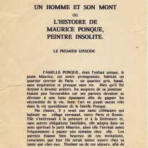 Page 1 from 'Maurice Ponque, un homme et son mont;