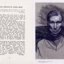 Detail from catalogue of 'Sandra Bridie, Selve Portrait'.
