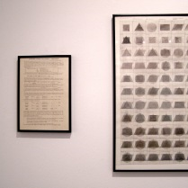 Drawing after instructions by Sol Le Witt. Mathematical analysis of combination and permutation drawing by Jane Bridie