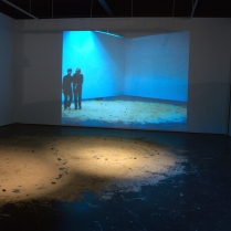 Video performance with Judy Perfect and installation. Margaret Lawrence gallery. Photograph by Peter Lambropoulos