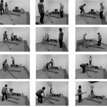 'Artist's group Exhibit A engaging with 'Art +Play' at ProjectLEFT, Paris, 1975'